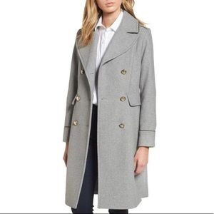 Vince Camuto Double Breasted Grey Coat